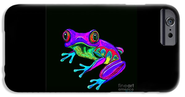 Rainbow Frog IPhone Case by Nick Gustafson