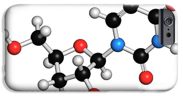 Uridine Nucleoside Molecule IPhone Case by Molekuul