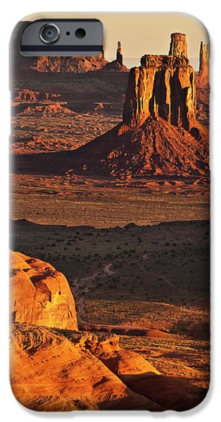 Usa, Arizona, Monument Valley Navajo IPhone Case by Ann Collins