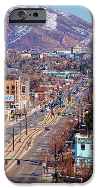 400 S Salt Lake City IPhone Case by Ely Arsha