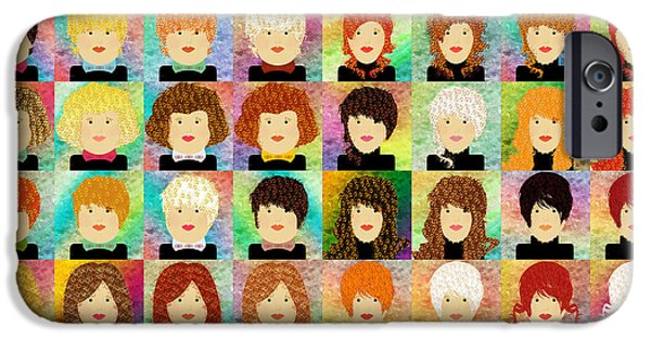 48 Porcelain Dolls IPhone Case by Andee Design