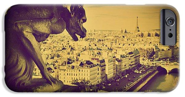 Paris Panorama France  IPhone Case by Michal Bednarek