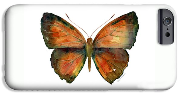 56 Copper Jewel Butterfly IPhone Case by Amy Kirkpatrick