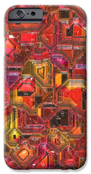 003 Abstract  IPhone Case by Mark Brooks