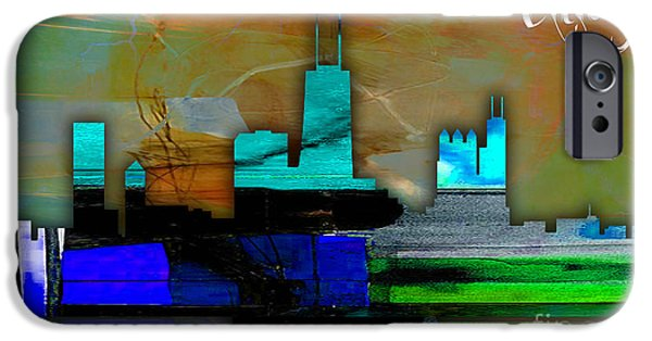 Chicago Skyline Watercolor IPhone 6s Case by Marvin Blaine