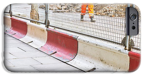 Construction Site IPhone Case by Tom Gowanlock