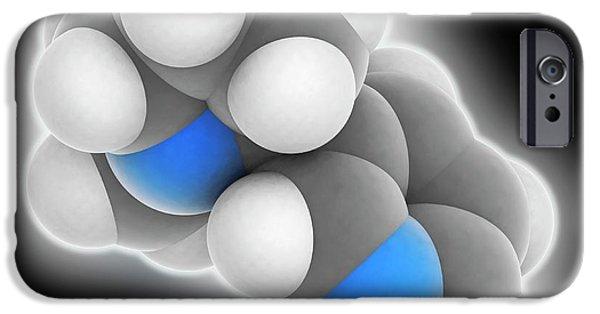 Nicotine Molecule IPhone Case by Laguna Design