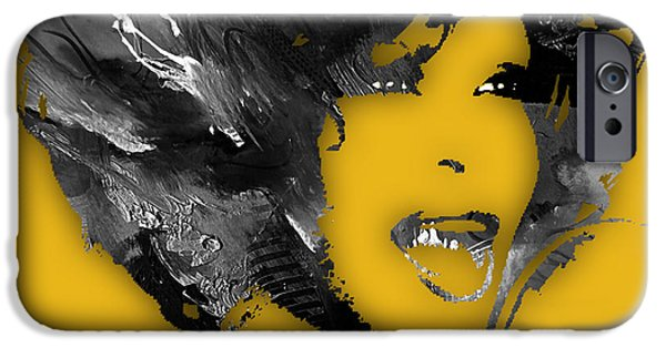 Whitney Houston Collection IPhone Case by Marvin Blaine