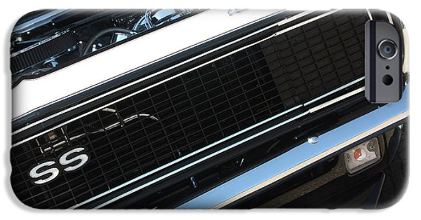 67 Black Camaro Ss Grill-8039 IPhone Case by Gary Gingrich Galleries