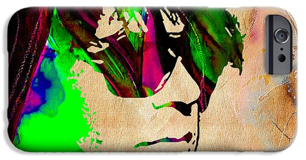 Neil Young Collection IPhone Case by Marvin Blaine