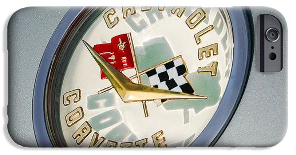 1960 Chevrolet Corvette Emblem IPhone Case by Jill Reger