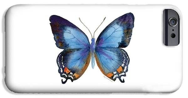 80 Imperial Blue Butterfly IPhone Case by Amy Kirkpatrick