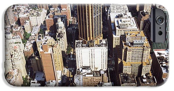 High Angle View Of Buildings In A City IPhone Case by Panoramic Images