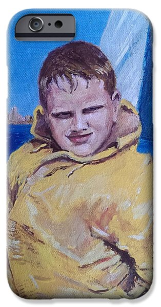A Boy On A Boat IPhone Case by Jack Skinner