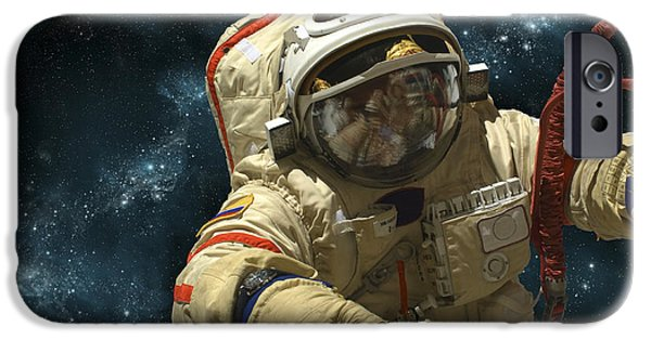 A Cosmonaut Against A Background IPhone 6s Case by Marc Ward