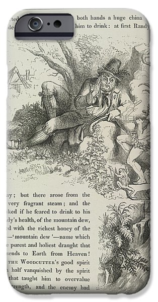 A Fairy Tale Of Love IPhone Case by British Library