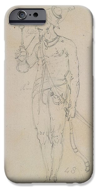 A Fakir Smoking IPhone Case by British Library