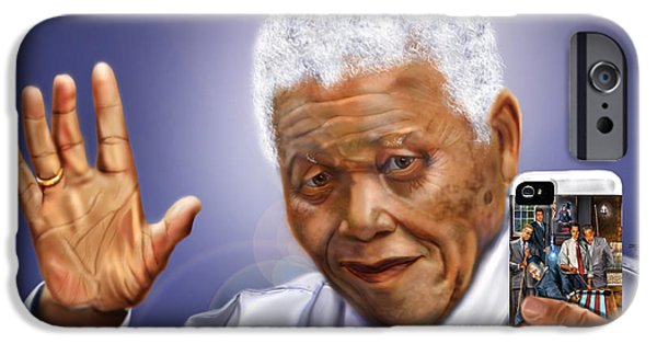 A Farewell Selfie To The World - Nelson Mandela  IPhone Case by Reggie Duffie