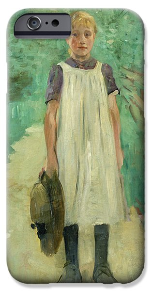 A Farmgirl IPhone Case by Thomas Ludwig Herbst