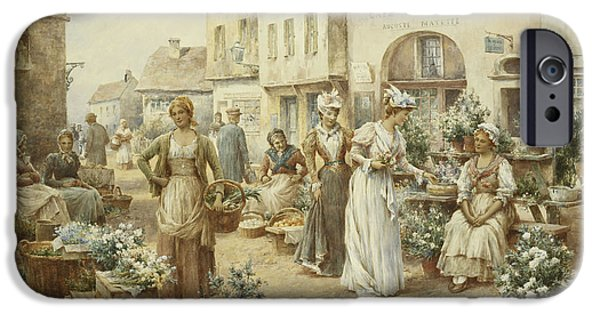 A Flower Market IPhone Case by Alfred Glendening Junior