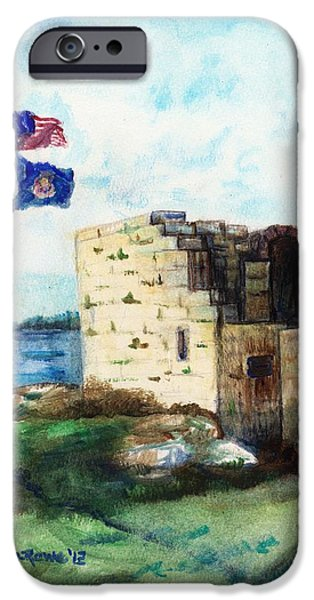 A Fort In Maine IPhone Case by Shana Rowe Jackson