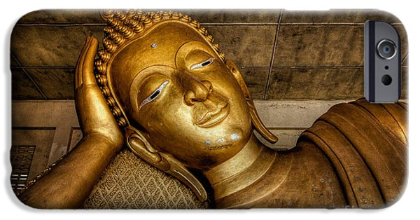 A Golden Buddha  IPhone Case by Adrian Evans