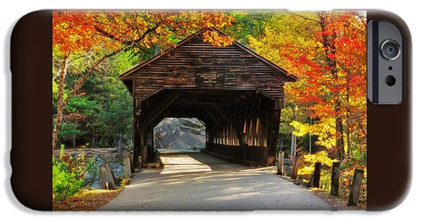 A Kancamagus Gem - Albany Covered Bridge Nh IPhone Case by Thomas Schoeller