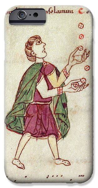 A Man Juggling IPhone Case by British Library