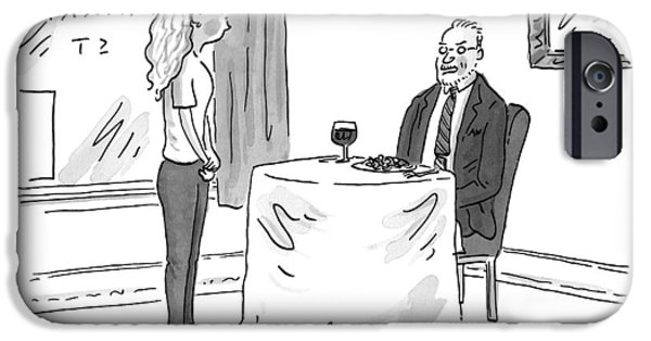 A Man Speaks To A Waitress IPhone Case by Danny Shanahan