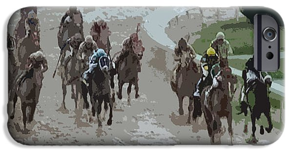 A Muddy Kentucky Derby IPhone Case by George Pedro