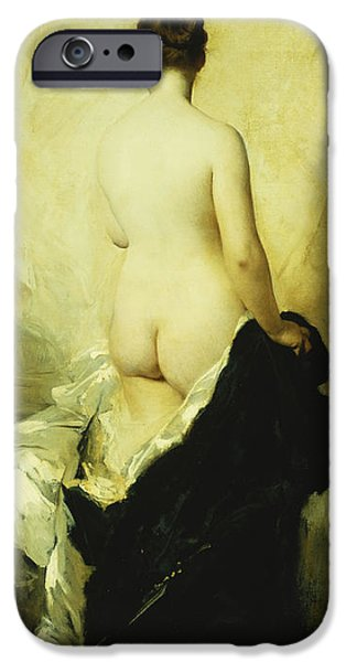 A Partially Draped Nude IPhone Case by Charles Chaplin