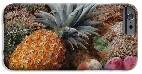 A Pineapple A Peach And Plums On A Mossy Bank IPhone 6s Case by John Sherrin
