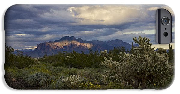 A Rainy Day At The Superstitions  IPhone Case by Saija  Lehtonen