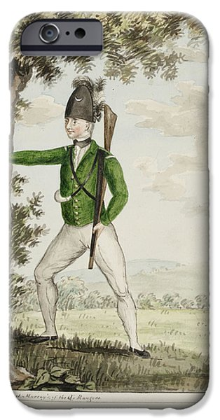 A Rifleman Of The Queen's Rangers IPhone Case by British Library