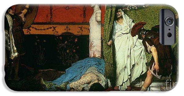 A Roman Emperor   Claudius IPhone Case by Sir Lawrence Alma Tadema