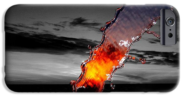 A Splash Of Color IPhone Case by Donnie Freeman