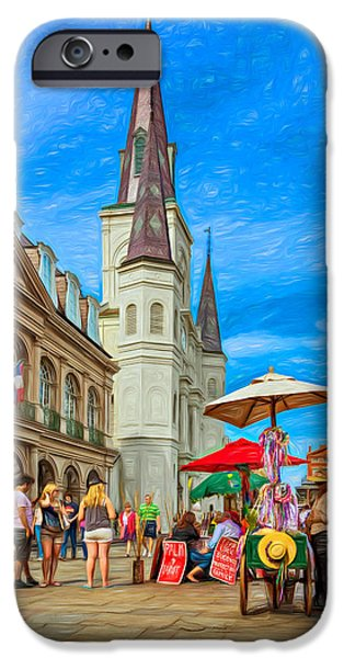 A Sunny Afternoon In Jackson Square 2 IPhone Case by Steve Harrington