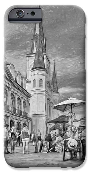 A Sunny Afternoon In Jackson Square 3 IPhone Case by Steve Harrington