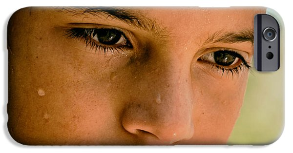 A Thoughtful Young Man IPhone Case by Mountain Dreams