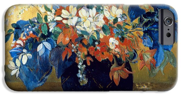 A Vase Of Flowers IPhone Case by Paul Gauguin