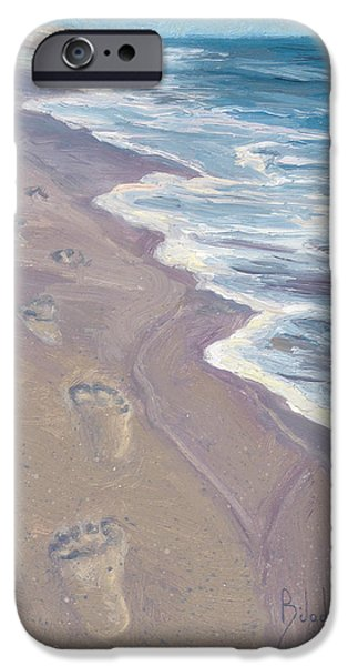 A Walk On The Beach IPhone Case by Lucie Bilodeau