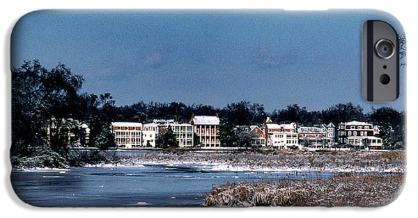 A Waterfront Christmas IPhone Case by Skip Willits