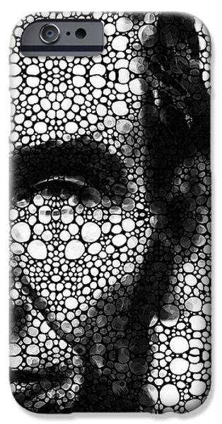 Abraham Lincoln - An American President Stone Rock'd Art Print IPhone Case by Sharon Cummings