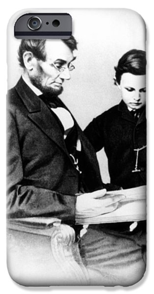 Abraham Lincoln And Tad IPhone Case by Anonymous