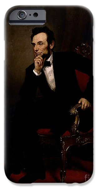 Abraham Lincoln IPhone Case by GPA Healy