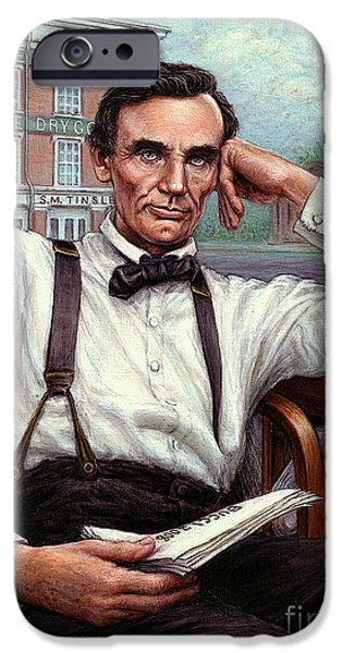 Abraham Lincoln Of Springfield Bicentennial Portrait IPhone Case by Jane Bucci