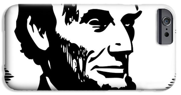 Abraham Lincoln Portrait IPhone Case by Florian Rodarte