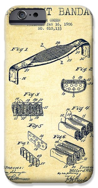 Absorbent Bandage Patent From 1906 - Vintage IPhone Case by Aged Pixel