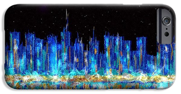 Abstract City Skyline IPhone Case by Veronica Minozzi