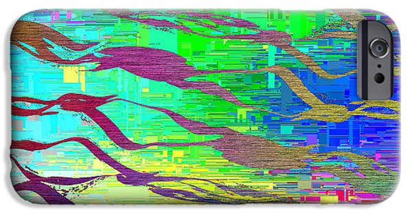 Abstract Cubed 7 IPhone Case by Tim Allen